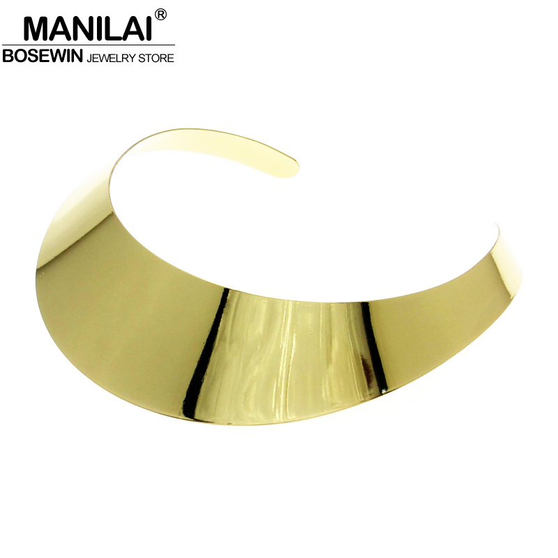 MANILAI Classic Style High quality Shine Torques Choker Coll