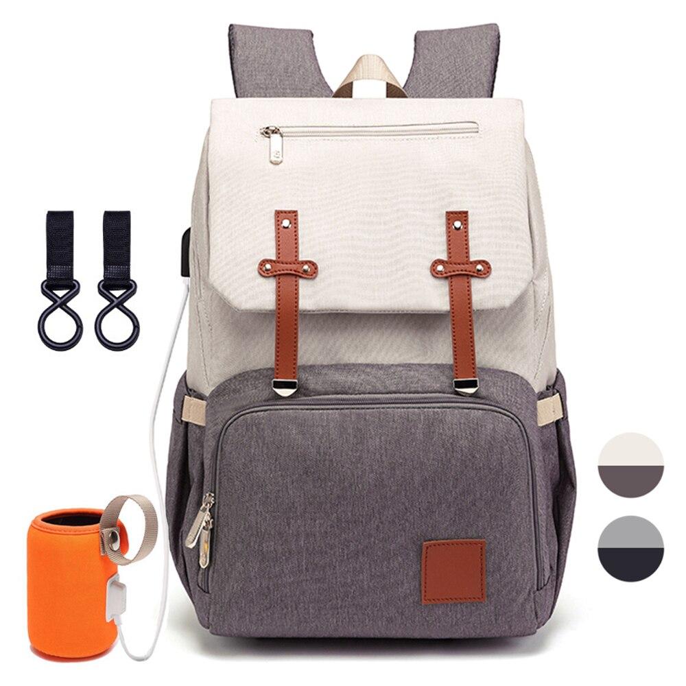 Sac à couches pour maman 2019 mode maternité Nappy bébé soins sacs avec USB momie multifonction voyage soins infirmiers sac à dos pour poussette