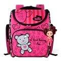Delune Kids Cute Bear Orthopedic Backpack Girls School Bags Waterproof Cartoon Child Mochila Escolar Infantil Foldable Schoolbag