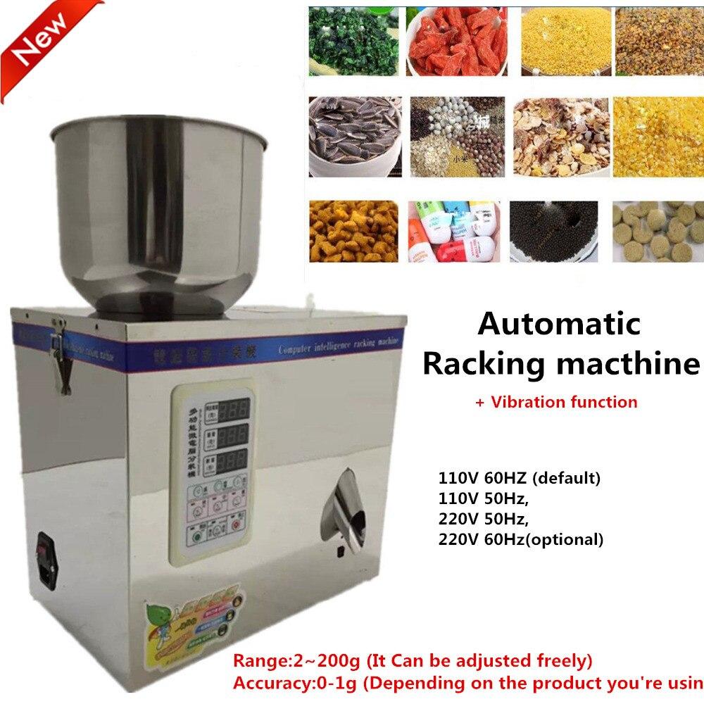 1 ~ 200g 220 V Automatischen Waage Vibration Regale Füllmaschine Kleine Körnige Lebensmittel, pille, elektronische componentPack