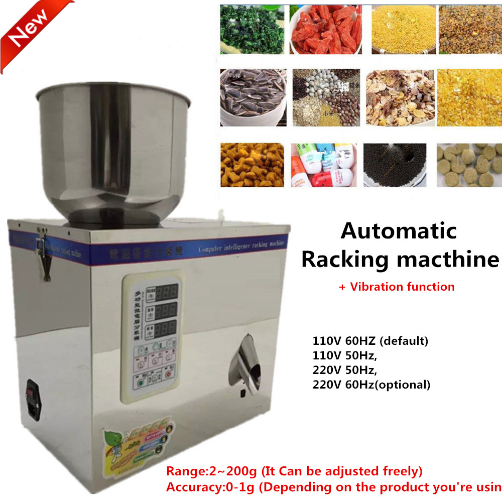 1~200g 220V Automatic Weighing Vibration Racking Machine Filling Machine for Small Granular Food,pill,Electronic componentPack vibration type pneumatic sanding machine rectangle grinding machine sand vibration machine polishing machine 70x100mm