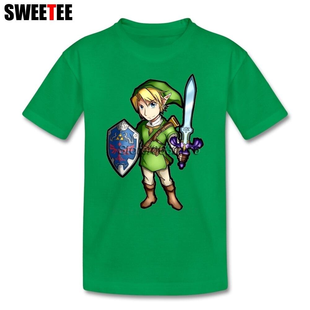 Boys Girls The Legend Of Zelda T Shirt 100% Cotton Short Sleeve O Neck Tshirt Children Tops 2018 Games T-shirt For Kids