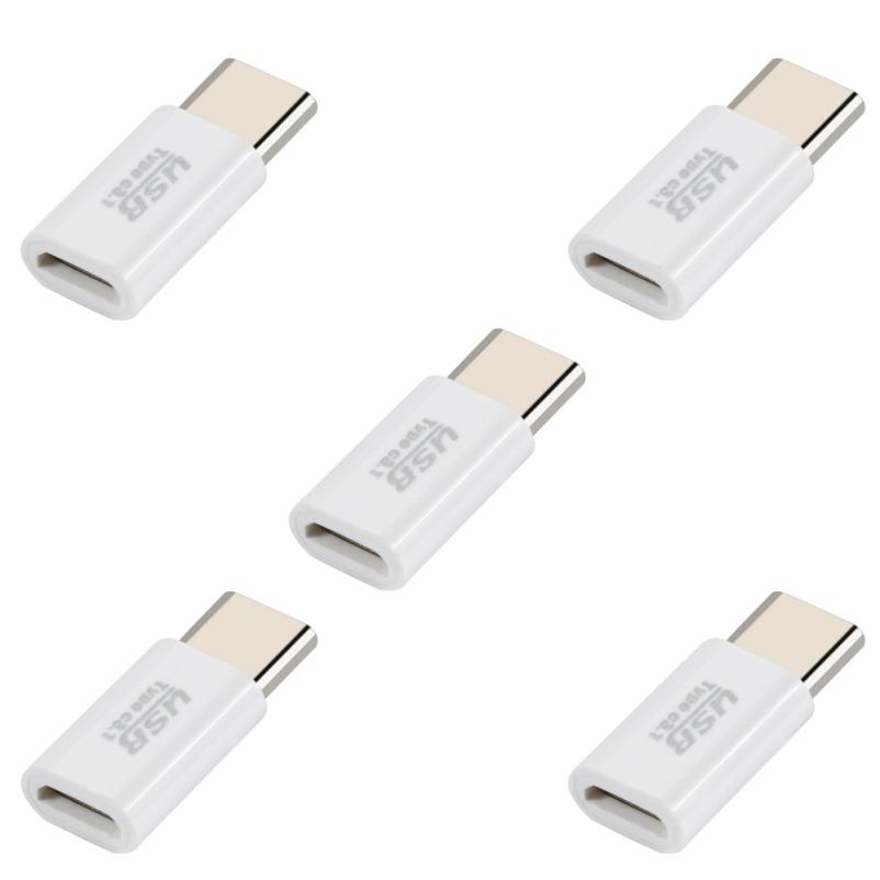 5PC Mini USB-C Type-C 3.1 To Micro USB Data Charging Cable Adapter Portable For Samsung Galaxy S8 Sep12 lidu usb male to micro usb male extension charging cable for samsung black 100 cm