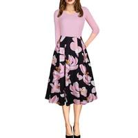 Elegant Work Formal Office Dress Women Autumn 2017 Sexy Causal Ball Gown V-Neck Ladies Party Dresses Club Wear Vestido Robe Pink