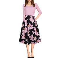 Elegante Arbeit Formale Büro Kleid Frauen Herbst 2017 Sexy Kausal Ballkleid V-ausschnitt Damen Party Kleider Club Tragen Vestido Robe rosa