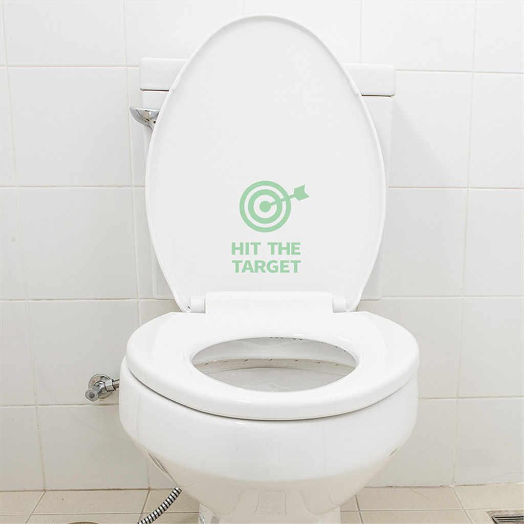 Стрела «сделай сам» ударила цель сиденье для унитаза наклейка для ванной водонепроницаемый письмо напоминают забавные наклейки для ванной Горячая продажа стикер s Муро