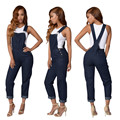 2016 rompers womens jumpsuit sexy backless sleeveless straps jumpsuit bodies damas plus size bodysuit women denim coveralls