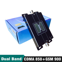 65dB Gain 17dBm LCD Display Dual Band Repeater CDMA 850 GSM 900 MHz 2G 3G Cellular Mobile Signal Booster Amplifier Up to 500sqm