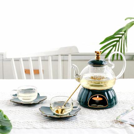 Ensemble de thé et de soucoupe de luxe anglais de luxe en europe du nord ensemble de théière en verre de haute qualité en céramique