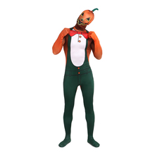 Halloween pumpkin Cosplay Costume Bodysuit Lycra Male Full Body Zentai MenTight Suits Party Shows Custom Second Skin Halloween