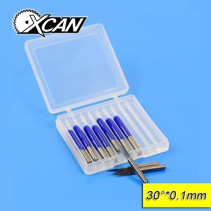 Free Shipping10Pcs 3.175mm Tungsten Steel V Shape Carbide PCB Engraving Bits CNC Router Tool 30 Degree 0.1mm Machine Accessories hot sale tungsten steel 10pcs 3 175mm carbide pcb engraving bits cnc router tool 30 degree 0 1mm