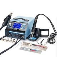YIHUA 992DA+ Solder Station 4 In 1 Hot Air Gun Rework Soldering Iron Heat Station LCD Digital Display Smoke Vacuum Repair Rework Electric Soldering Irons