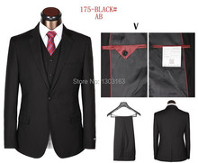 Top quality New arrivals 2016 fashion men's business suits brand wedding suits coat+pants+vest Free Shipping