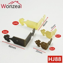 Case Leg-Corner-Protector Decorative Jewelry-Box Wood Bronze Antique 12pcs/Lot Feet Iron