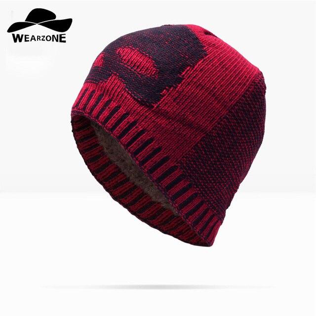 WEARZONE Invierno Gorros Beanie Sombrero Unisex Liso de Color Sólido  Caliente Suave cráneo Gorro de lana a8dc27ead6a