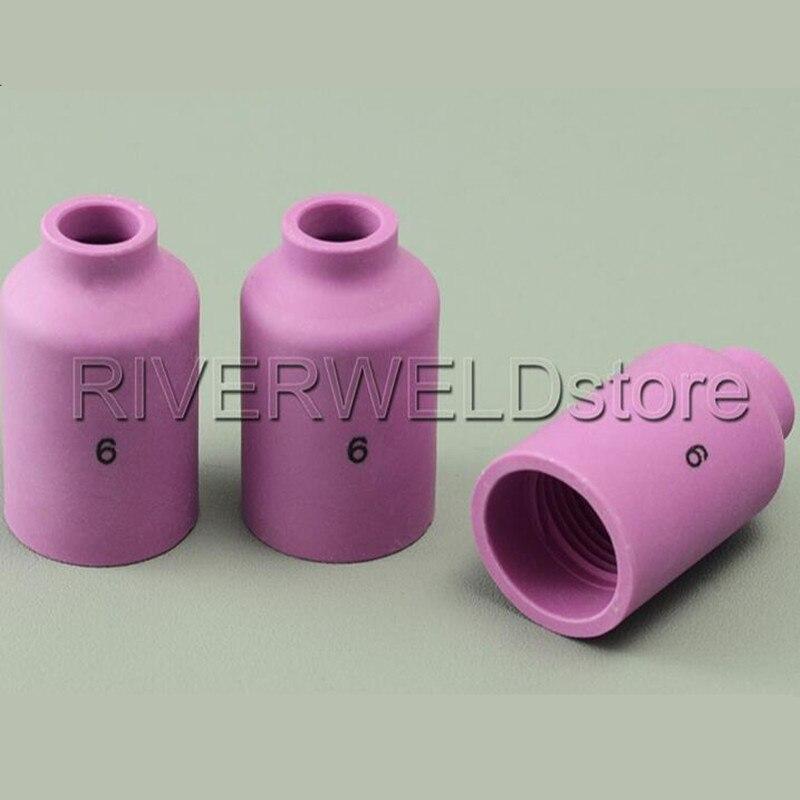 53N88 53N89 Gas Lens Ceramic Cup Boquilla 53N87 Accesorios para Consumibles de Antorcha de Soldadura TIG Consumibles 10 unids 53N87