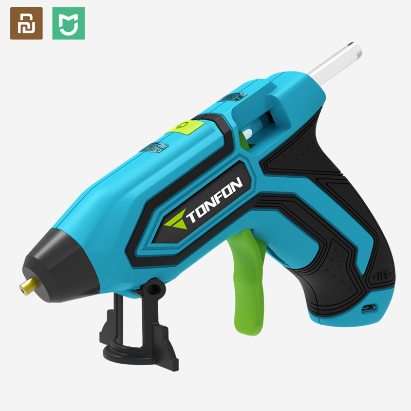Sem Fio 200W Hot Melt Pistola de Cola Industrial 3.6V Mini Ferramenta de Temperatura para 7mm pistola Pistola de Calor Elétrico de silicona calien
