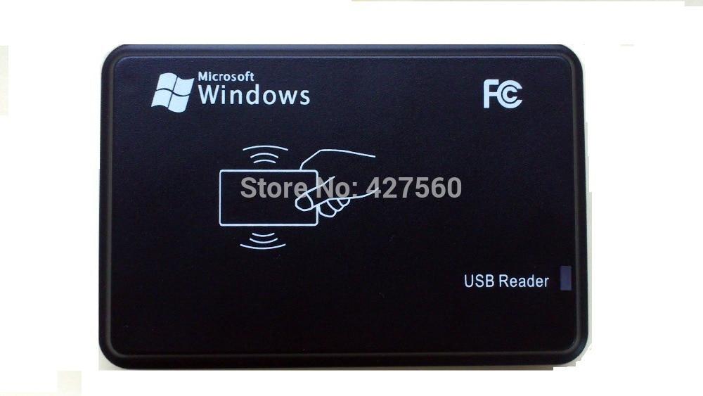 T5577 125 khz Rfid Écrivain Lecteur de carte Rfid Écrivain En Double et Softeware à EM4100 + 10pac Réinscriptible Carte D'IDENTITÉ