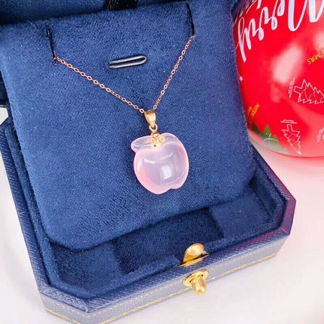 Christmas giftChristmas gift Jewelry Au750 18K Necklac  With national certificate 0012 4