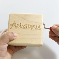 Handmade Wooden Anastasia music box Once upon a December special gifts free shipping