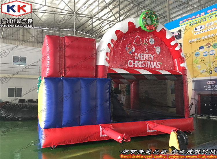 Inflatable Santa Bouncy Slide Combo for Christmas Decoration Christmas Jumping Bouncer