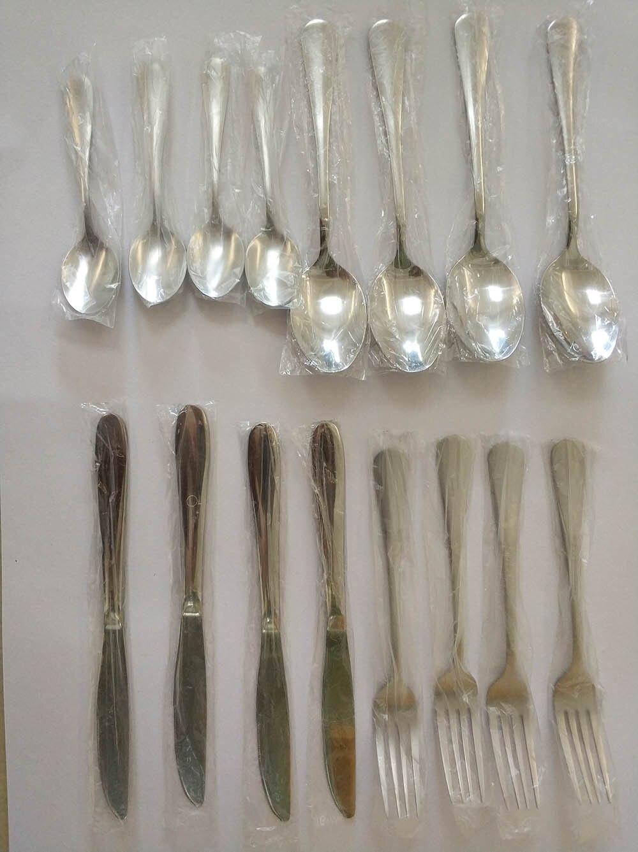 Купить с кэшбэком Hot Sale 16 Pcs/set Pure Solid Color european Dinnerware Stainless Steel Western Cutlery Kitchen Food Tableware Dinner Set