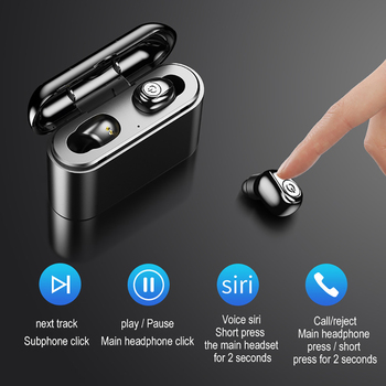 TWS X8 Wireless Bluetooth Earphone Waterproof Sports Bass Mini Earbuds Headset With Mic 2200mAh Charging Box Handsfree Headphone