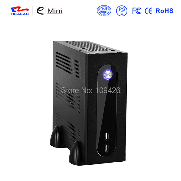 Mini-ITX Chassis HTPC case USB2.0 3.5'' HDD SGCC 0.5mm ITX case HTPC Realan G3 mini itx chassis htpc aluminum 3 5 hdd support dc atx power mini case of htpc wifi com pci audio ports realan w60