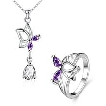 S015-B Fashion popular silver plated jewelry sets for sale