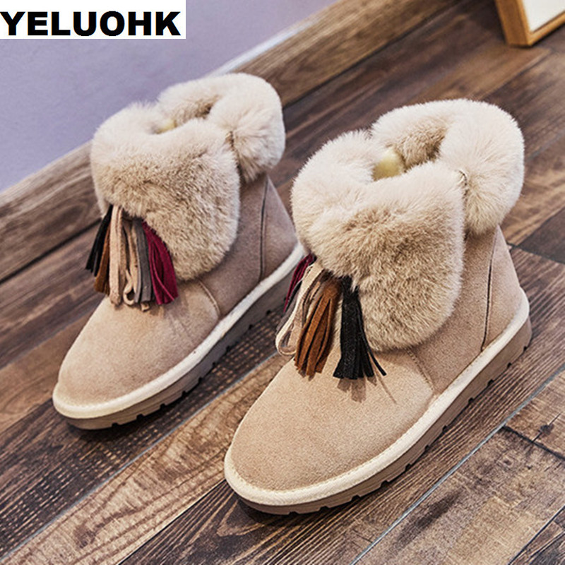 Fringe Snow Boots Women Flat Shoes Plush Warm Ankle Boots For Women Casual Platform Shoes Female Winter Boots Australia woman snow boots women winter shoes women s ankle boots fashion casual flat warm plush shoes female ladies 2017 new or400880