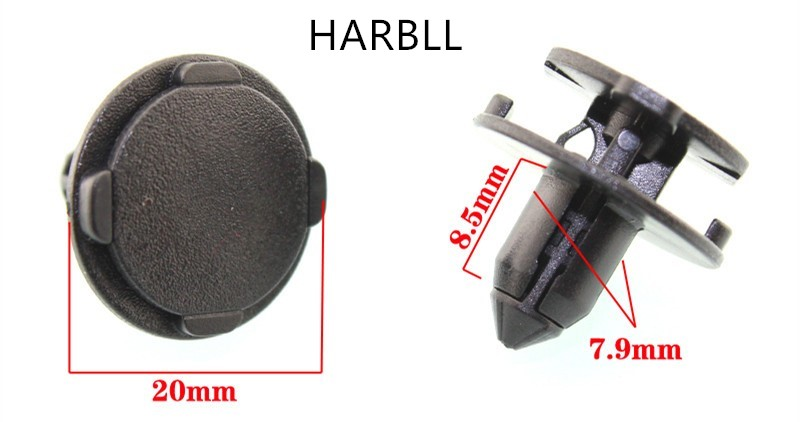 HARBLL 10PCS Applicable to qichen R50T70 geely emgrand borui China open tank cover fenders expansion clip clip card