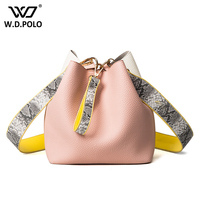 WDPOLO Leather Chic Women Bags With Python Strap Bolsa Lady Love Super Hot And Fashion Handbags