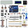 Adecuado DIY eléctrica Super Starter Kit para Arduino Uno R3 con guía LCD1602 pan freeshipping libro auriculares diykit