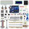Adeept DIY Электрический Супер Starter Kit для Arduino UNO R3 с Путеводитель LCD1602 Макет Freeshipping Книга наушники diykit