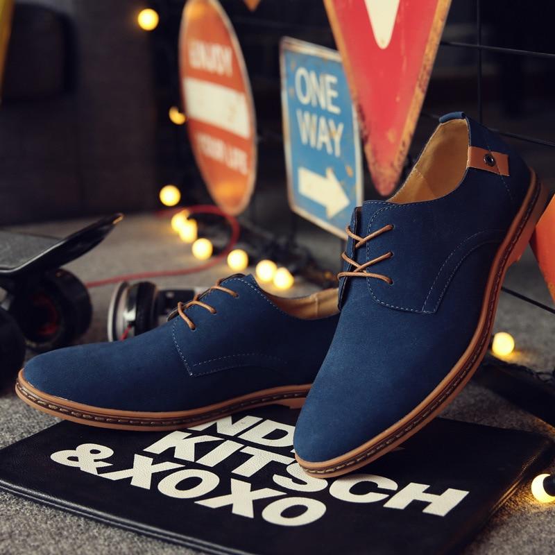 Marée Spéciale Cuir Printemps Marque Offre En brown gray blue Designer coffee Chaussures Black 2017 Casual khaki Mode Automne Suédé Hommes Lacent Xq5BXwPCx