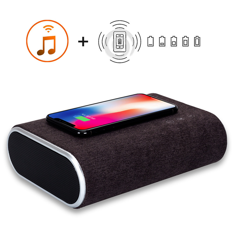 Smart Wireless Charger Bluetooth Speaker Stereo Music Player Portable Travel Quick Charging Adapter For iPhone X 8 8 Plus letv bluetooth wireless speaker outdoor portable mini music player subwoofer