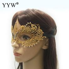 Half Face Party Masquerade Masks 1 Pcs Gold Lace Sexy Cosplay Masker For Girls Hollow Mask Carnival Masque Costume