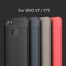 Hatoly para capa vivo v7 caso litchi tpu robusto caso de telefone para vivo v7 capa para vivo y75 vivo v7 fundas 5.7