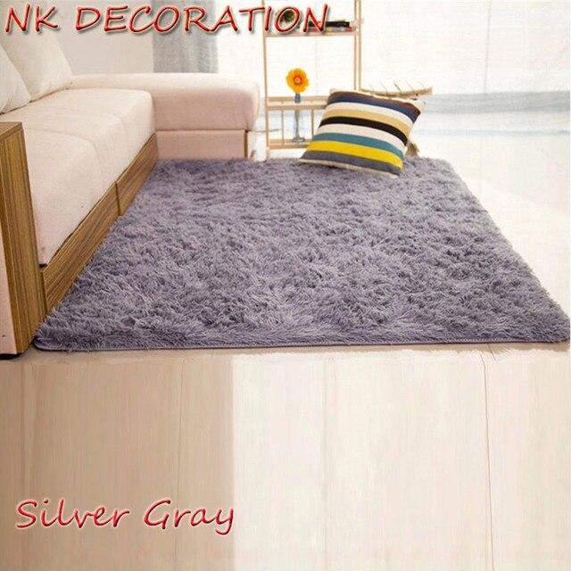 Nk Dekoration 120 Cm 160 Cm Silber Grau Teppich Schlafzimmer