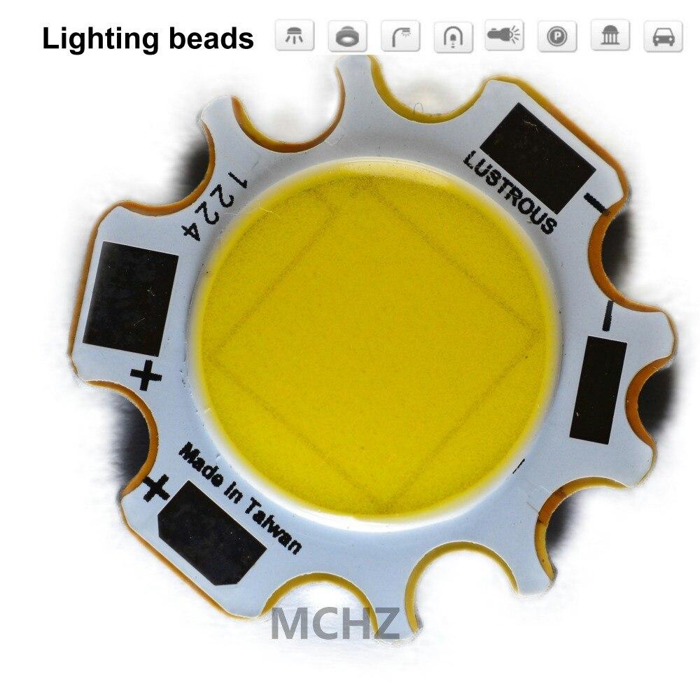 30 pces cob 20 w led cob fonte de luz chip 33 v 600ma lado 12.1mm luzes ponto chip a bordo lâmpada