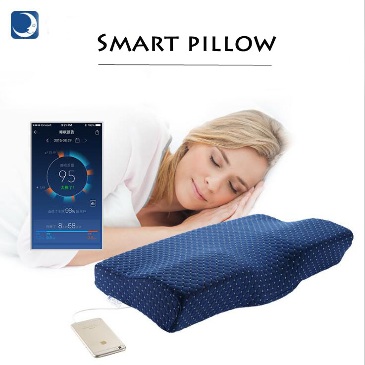 Promote Side Sleeper Pillows Orthopedic Comfort Memory Foam Sleeping APP Smart Music Pillow-in Decorative Pillows from Home & Garden    2