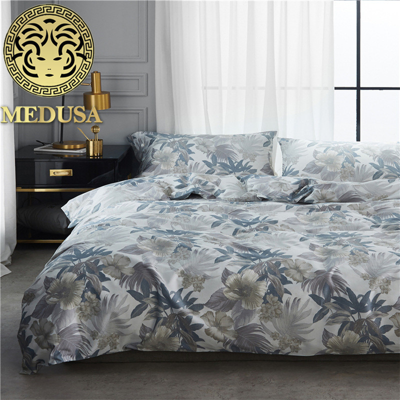 Medusa 60S egyptian sateen oak tree pastoral Bedding set 4pcs king queen size duvet cover flat sheet pillow casesMedusa 60S egyptian sateen oak tree pastoral Bedding set 4pcs king queen size duvet cover flat sheet pillow cases
