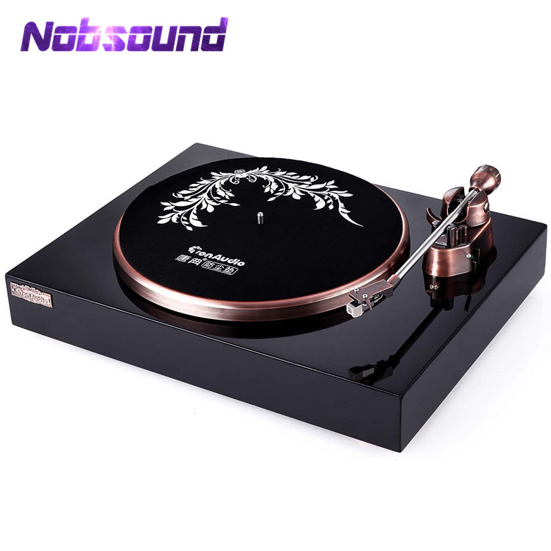 Nobsound Hi-end HiFi MM Vinyl Gramophone Record Player Retro Stereo LP Turntable With Phono Pre-Amplifier