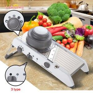 Image 1 - Lekochタマネギおろしshredderグラインダー調整可能なフルーツ野菜カッターポテトスライサーキッチンツールアクセサリーガジェットチョッパー