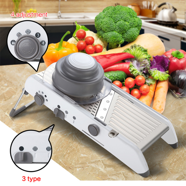 Lekochタマネギおろしshredderグラインダー調整可能なフルーツ野菜カッターポテトスライサーキッチンツールアクセサリーガジェットチョッパー