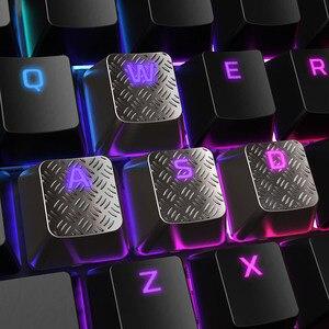 Image 2 - Kingston HyperX keycaps for RGB gaming mechanical keyboard kit clavier gamer 8pcs key cap tactile grip FPS MOBA