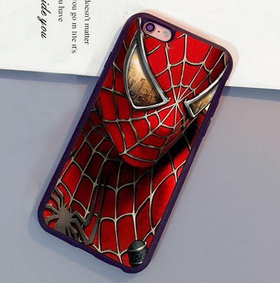 Cool <font><b>spiderman</b></font> <font><b>Super</b></font> Hero Printed Soft Rubber Mobile Phone <font><b>Cases</b></font> <font><b>For</b></font> <font><b>iPhone</b></font> <font><b>6</b></font> 6S <font><b>Plus</b></font> 7 7 <font><b>Plus</b></font> 5 5S 5C SE 4S Cover Shell