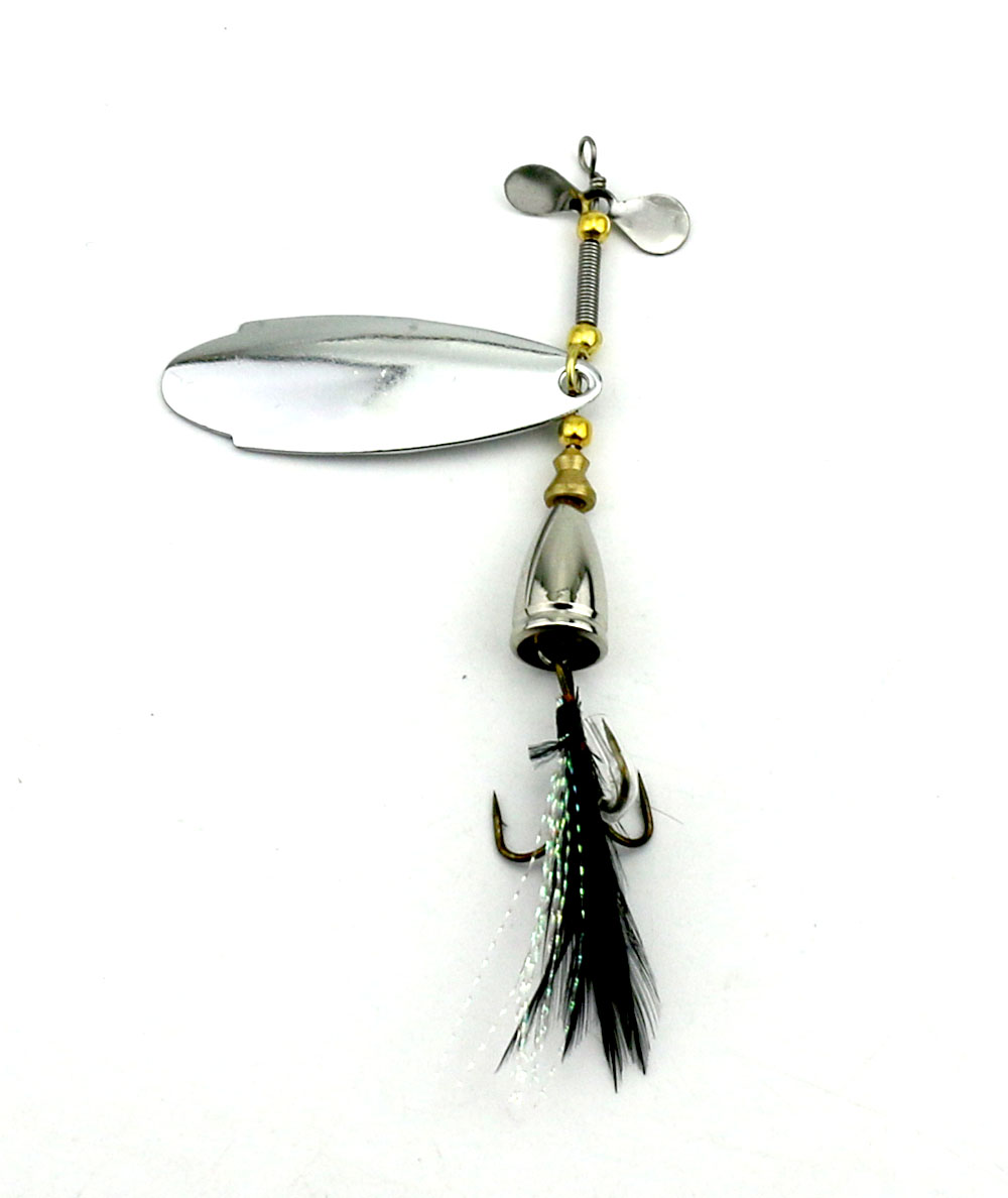 1pcs fishing lure hook spinner spoon lures with treble for How to make a fishing spinner