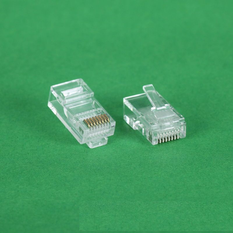 10PCS/LOT Cat5 RJ45 Connector Cat5E 8P8C Modular Ethernet Cable Head Plug Gold-plated Cat 5 Crimp Network RJ 45 Connector