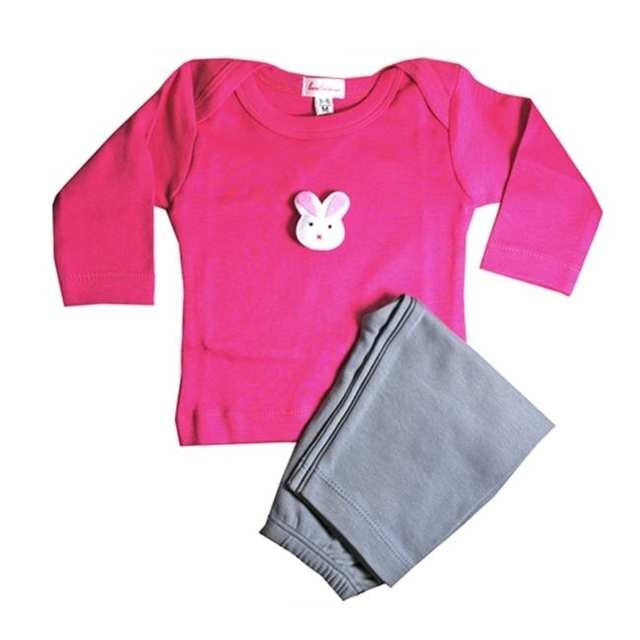 Loralin Design GFB12 Bunny Outfit -Fuchsia 12-18 Months